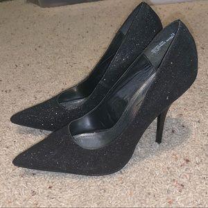 Anne Michelle | Black | Sparkly | Stiletto Heels